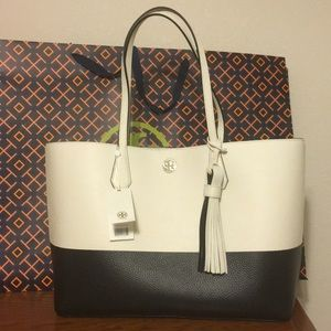 NWT  Tory Burch Color Block Perry Tote